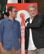 Mastandrea con il regista Daniele Gaglianone