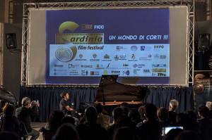 Il pianista Romeo Scaccia ospite l'ultima sera del SFF  Foto di Marco Dessi