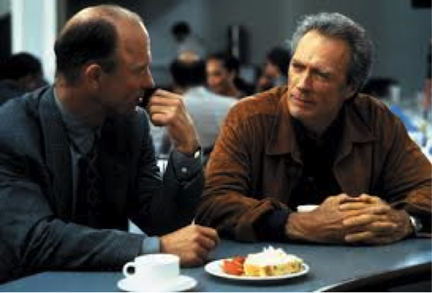 Ed Harris e Clint Eastwood in Potere assoluto (1997) di Clint Eastwood