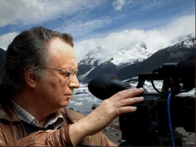 Giorgio Sabbatini durante le riprese del video Percorsi