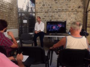 Lezione del regista Francesco Giusiani, dal corto 1. a  Festa del Cinema Corto