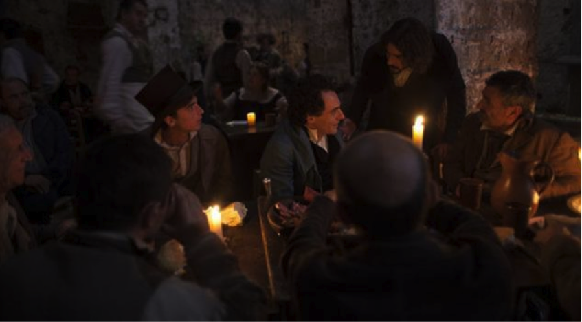 Il giovane favoloso – Di notte in una taverna a Napoli Leopardi raggiunto da Ranieri