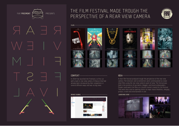Poster del Rear View Film Festival 2014