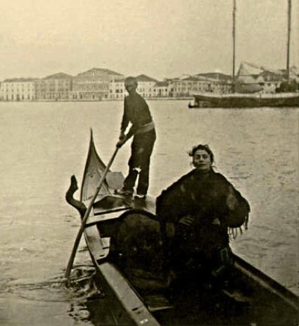 Eleonora Duse in gondola a Venezia