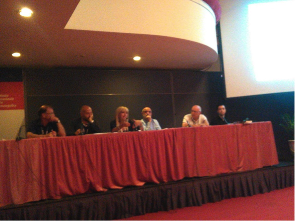 Forum Fedic. Il tavolo dei relatori- da sin. Montini, Chessa, Morandini, Merlino, Micalizzi, Cavaniglia. (Foto di Marco Asunis)