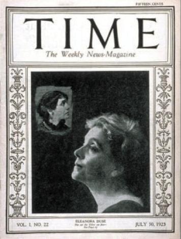 Una copertina di Time dedicata a Eleonora Duse