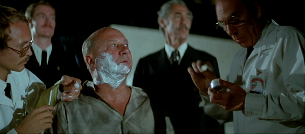 "Il Presidente (Donald Pleasence) in ""Fuga da New York"""