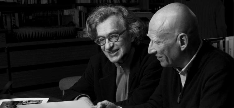 Wim Wenders insieme a Juliano Ribeiro Salgado